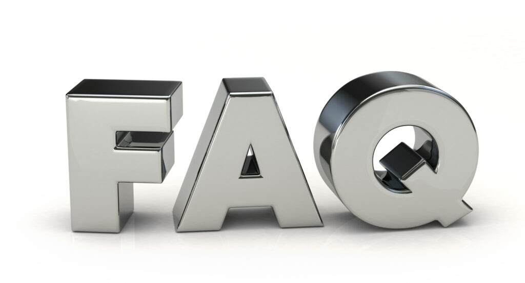 silver FAQ. 3D illustration